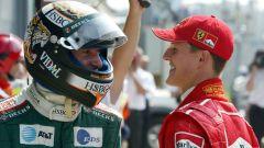 F1, GP Italia 2002: Eddie Irvine (Jaguar) e Michael Schumacher (Ferrari)