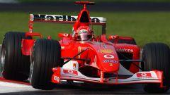 F1, GP Italia 2002: Michael Schumacher al volante della Ferrari F2002