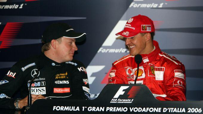 F1, GP Italia 2006: Kimi Raikkonen (McLaren) e Michael Schumacher (Ferrari)