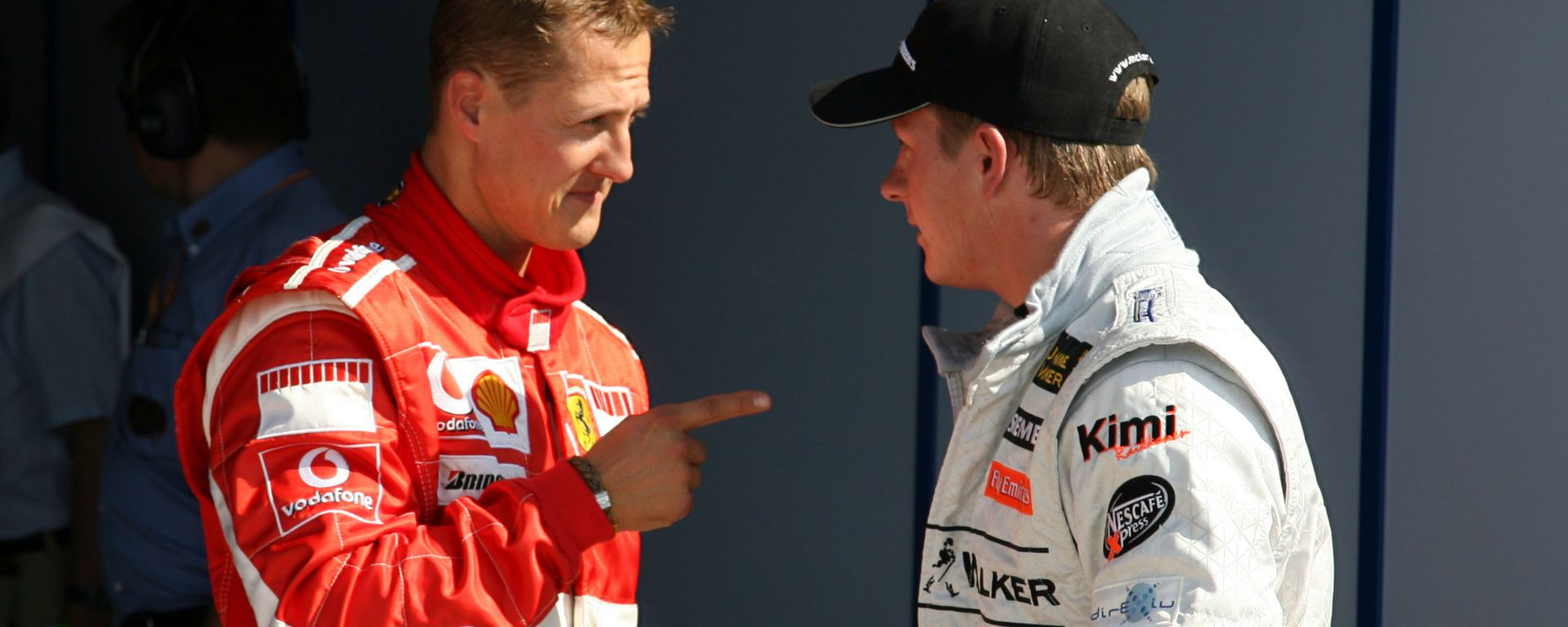 F1, GP Italia 2006: Michael Schumacher (Ferrari) e Kimi Raikkonen (McLaren)