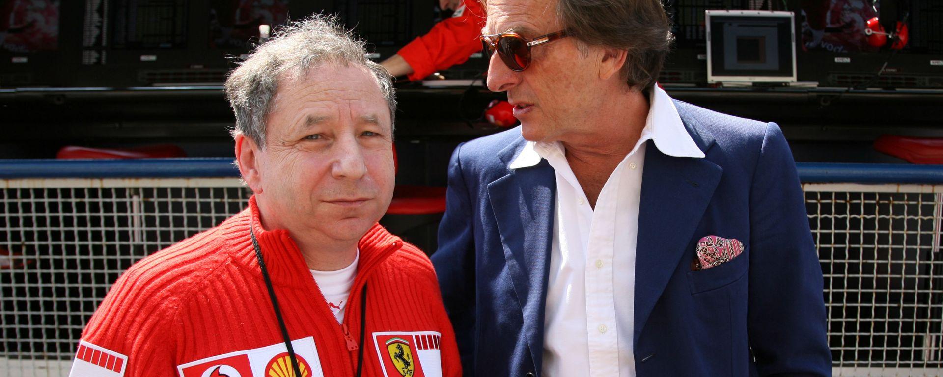 F1 GP Italia 2006, Monza: Luca Cordero di Montezemolo con l'allora team principal Ferrari, Jean Todt