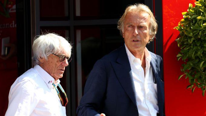 F1 GP Italia 2014, Monza: Luca Cordero di Montezemolo e Bernie Ecclestone
