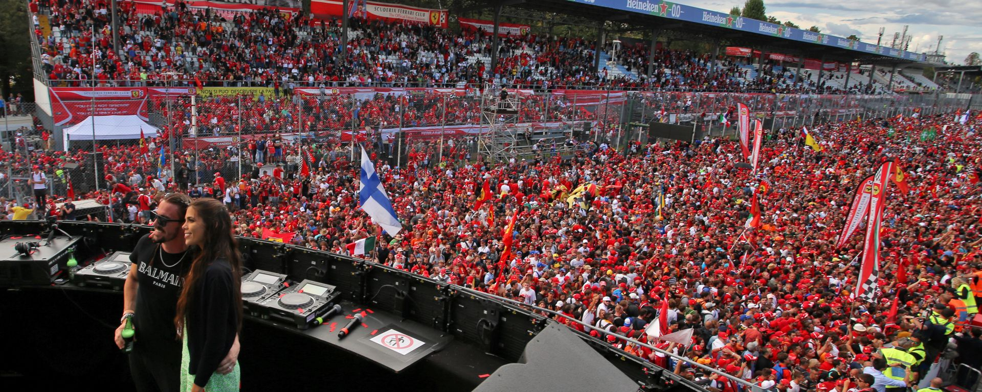 F1, GP Italia 2019: la folla sotto al podio