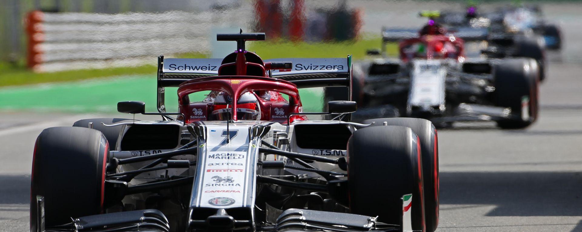 F1, GP Italia 2019: le Alfa Romeo di Kimi Raikkonen e Antonio Giovinazzi