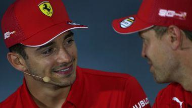 F1 GP Italia 2019, Monza: Charles Leclerc e Sebastian Vettel (Ferrari)