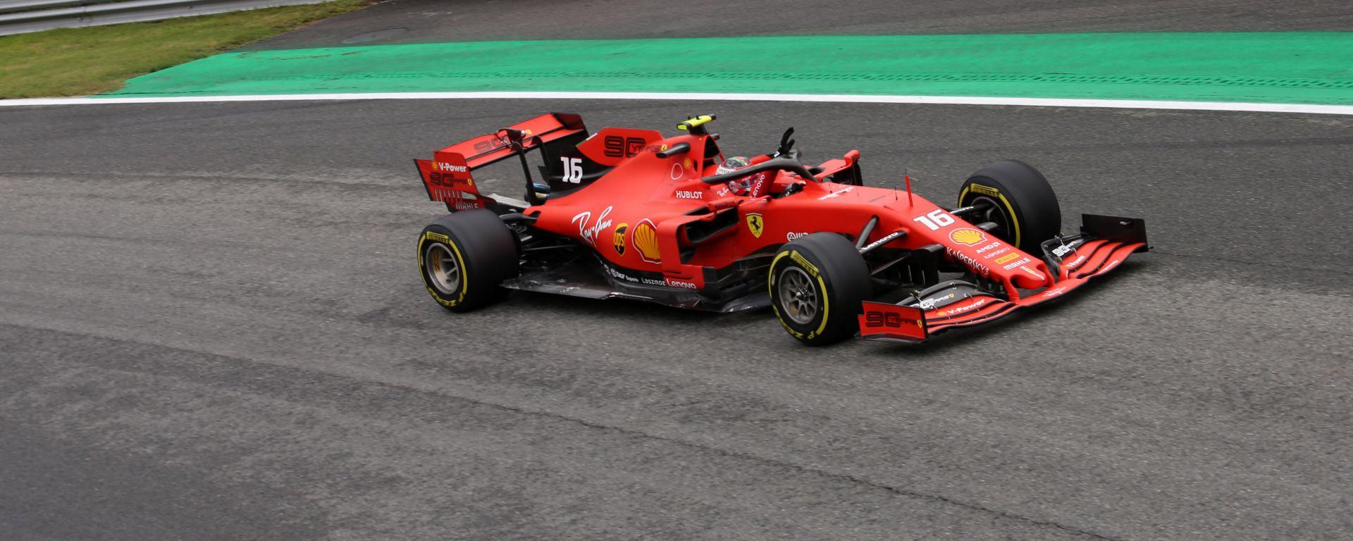 F1 GP Italia 2019, Monza: Charles Leclerc (Ferrari) è il più rapido al termine delle PL2
