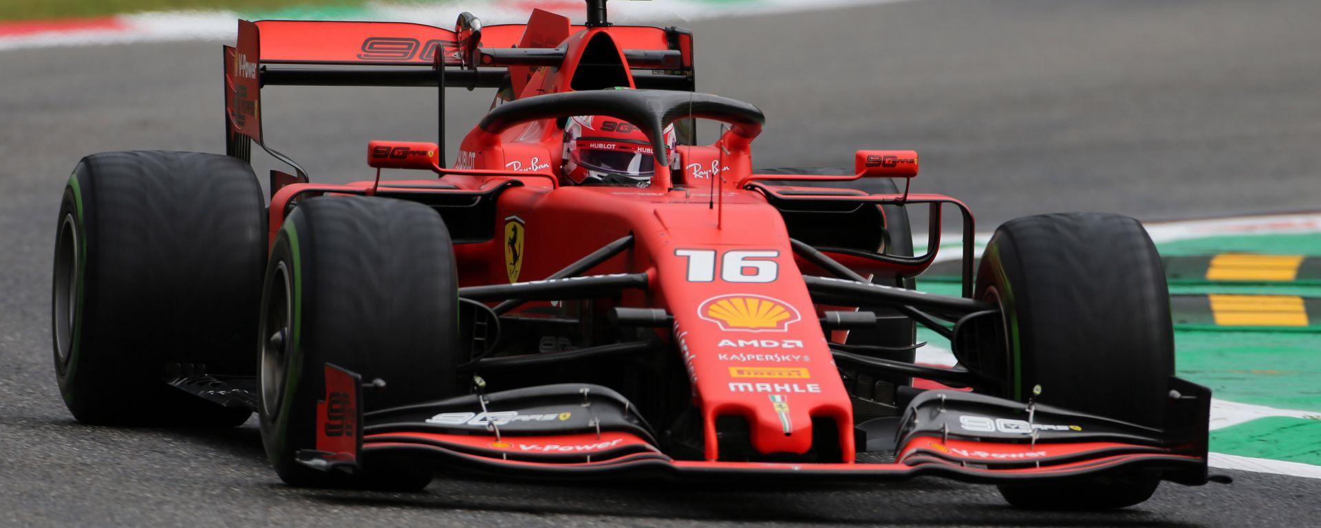 F1 GP Italia 2019, Monza: Charles Leclerc (Ferrari) è il più veloce al termine delle PL1