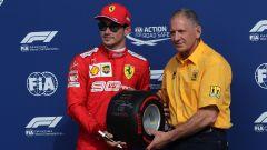 F1 GP Italia 2019, Monza, Charles Leclerc (Ferrari) e Jody Scheckter