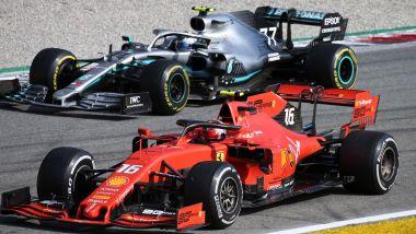 F1 GP Italia 2019, Monza, Charles Leclerc (Ferrari) e Lewis Hamilton (Mercedes)