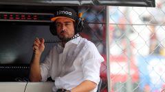 F1, GP Italia 2019, Monza: Fernando Alonso al muretto McLaren