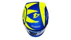 F1 GP Italia 2019, Monza: il casco di Lando Norris (McLaren) dedicato a Valentino Rossi. Vista dall'alto