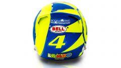 F1 GP Italia 2019, Monza: il casco di Lando Norris (McLaren) dedicato a Valentino Rossi. Vista posteriore