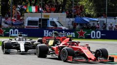 F1 GP Italia 2019, Monza: il duello tra Charles Leclerc (Ferrari) e Lewis Hamilton (Mercedes)