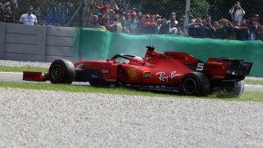 F1 GP Italia 2019, Monza: l'errore in gara di Sebastian Vettel (Ferrari)