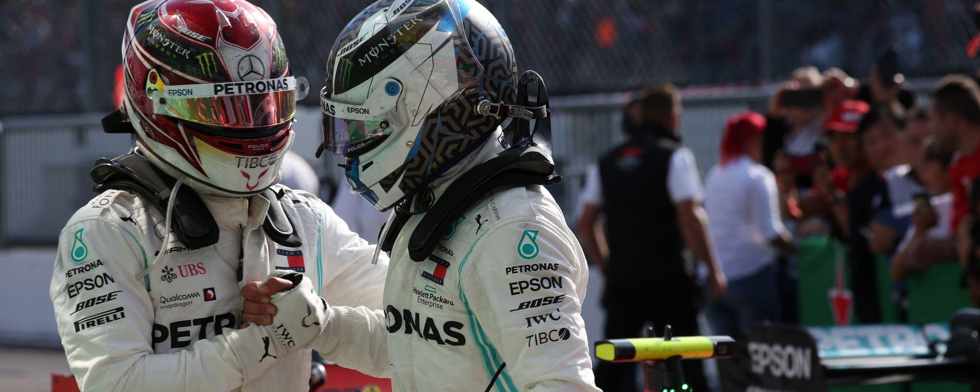 F1 GP Italia 2019, Monza: Lewis Hamilton & Valtteri Bottas (Mercedes)