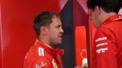F1 GP Italia 2019, Monza: Mattia Binotto a colloquio con Sebastian Vettel (Ferrari)