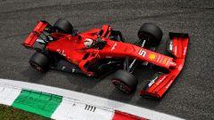 F1 GP Italia 2019, Monza: Sebastian Vettel alla curva Parabolica