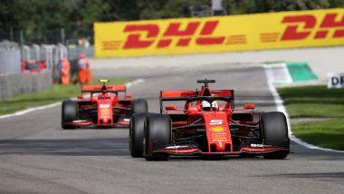 F1 GP Italia 2019, Monza, Sebastian Vettel e Charles Leclerc (Ferrari)