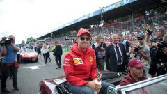 F1 GP Italia 2019, Monza: Sebastian Vettel (Ferrari) alla parata dei piloti