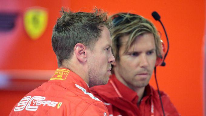 F1 GP Italia 2019, Monza, Sebastian Vettel (Ferrari) e Antti Kontsas