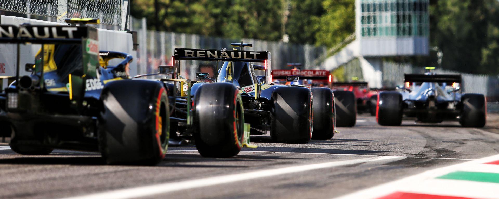 F1, GP Italia 2019: traffico all'uscita della pit-lane