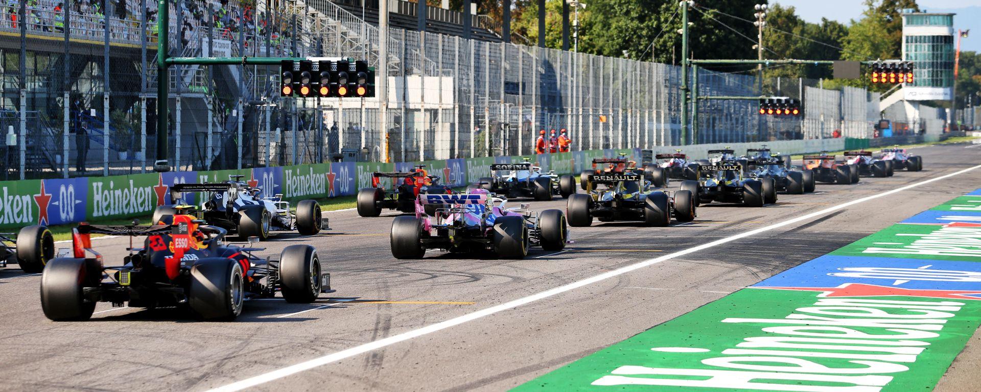 F1 GP Italia 2020, Monza: la seconda partenza della gara