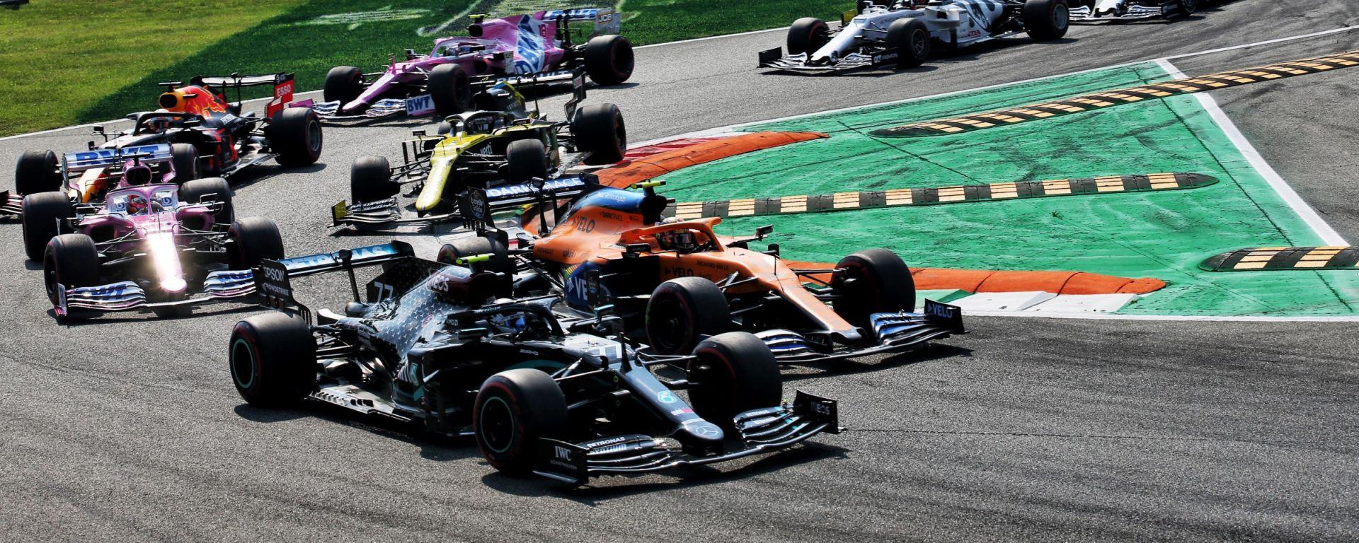 F1, GP Italia 2020: prime fasi della gara