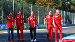 F1, GP Italia 2020: track walk di Sebastian Vettel (Ferrari)