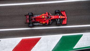 F1 GP Italia 2021, Monza: Carlos Sainz (Scuderia Ferrari)   Foto Twitter @ScuderiaFerrari