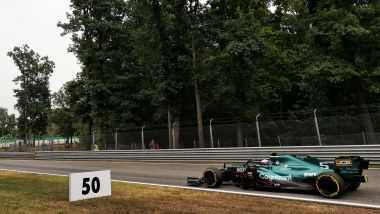 F1 GP Italia 2021, Monza: Sebastian Vettel (Aston Martin Racing) in pista