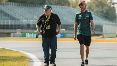 F1, GP Italia 2021: Sebastian Vettel con il papà Norbert