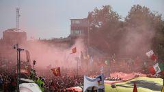 F1 GP Italia, i festeggiamenti sotto il podio di Monza