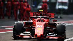 F1, GP Messico 2019: Charles Leclerc (Ferrari) dopo il pit-stop