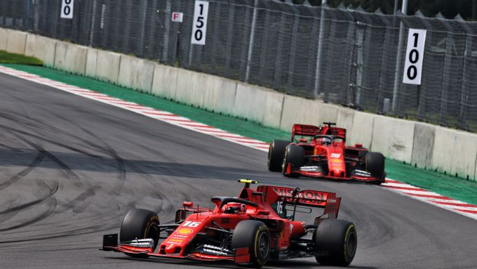 F1, GP Messico 2019: Charles Leclerc precede Sebastian Vettel (Ferrari)