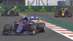 F1 GP Messico 2019, Città del Messico: il sorpasso di Verstappen su Magnussen