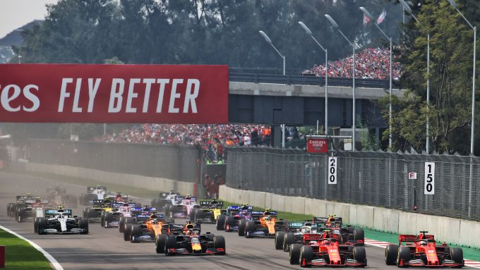 F1 GP Messico 2019, Città del Messico: la partenza della gara