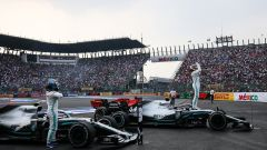 F1 GP Messico 2019, Città del Messico: le Mercedes di Lewis Hamilton e Valtteri Bottas