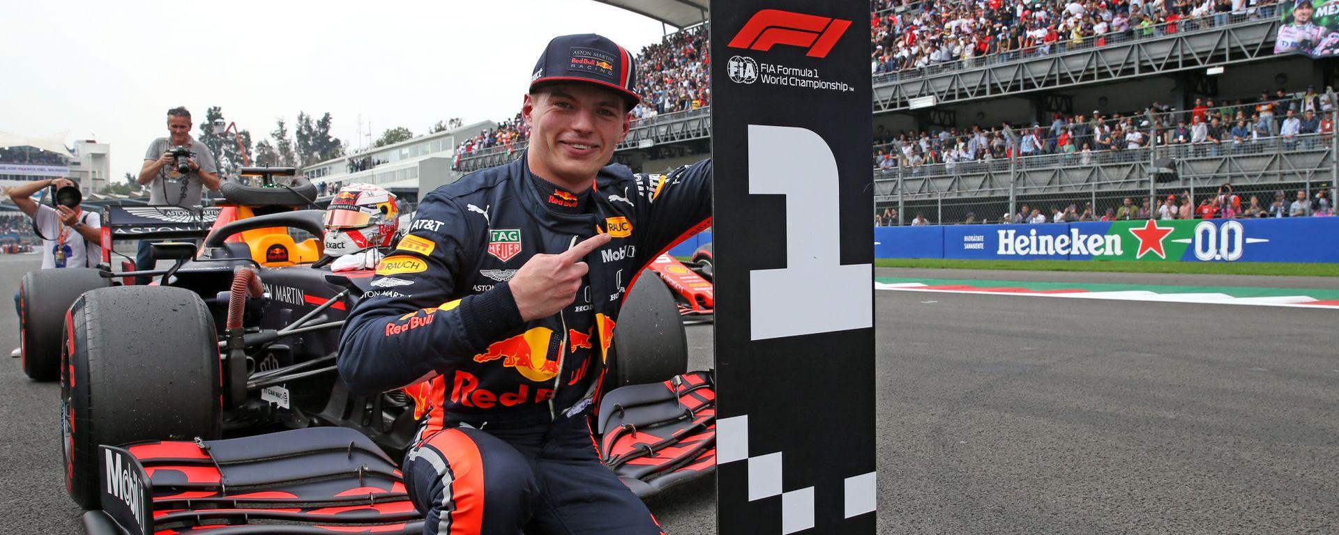 F1 GP Messico 2019, Città del Messico: Max Verstappen (Red Bull) è il poleman