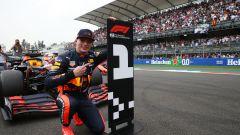 F1 GP Messico 2019, Città del Messico: Max Verstappen (Red Bull) esulta per la prima pole