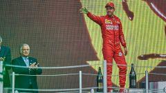 F1 GP Messico 2019, Città del Messico: Sebastian Vettel (Ferrari) sul podio