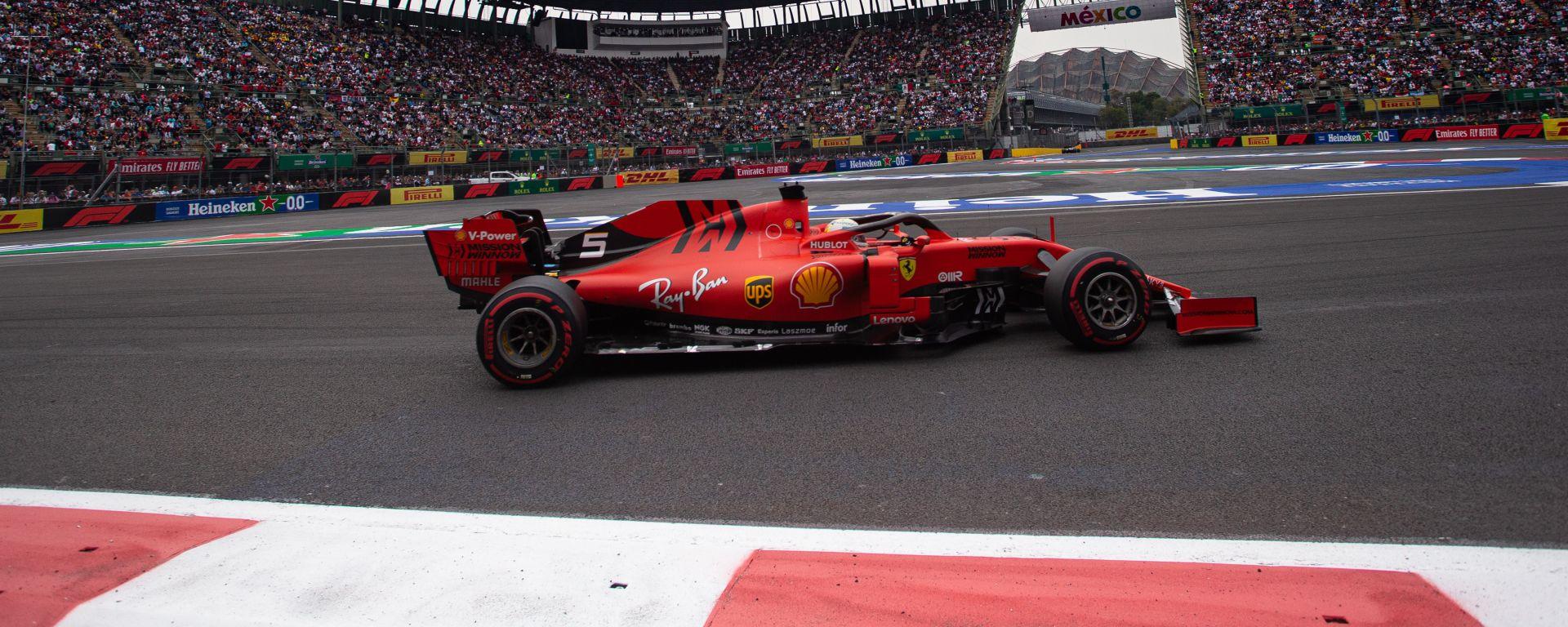 F1 GP Messico 2019, Città del Messico: Sebastian Vettel (Ferrari)