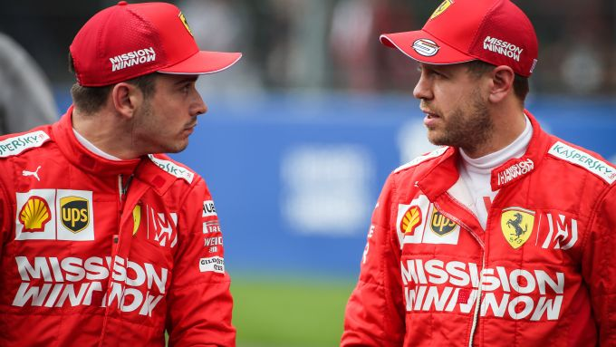 F1 GP Messico 2019, Hermanos Rodriguez: Charles Leclerc e Sebastian Vettel (Ferrari)