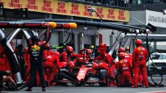 F1, GP Messico 2019: pit stop di Sebastian Vettel (Ferrari)