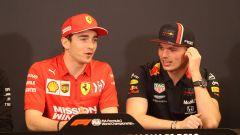 F1 GP Monaco 2019, Leclerc scherza con Verstappen