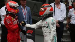 F1 GP Monaco 2019, Vettel si complimenta con Hamilton dopo il traguardo