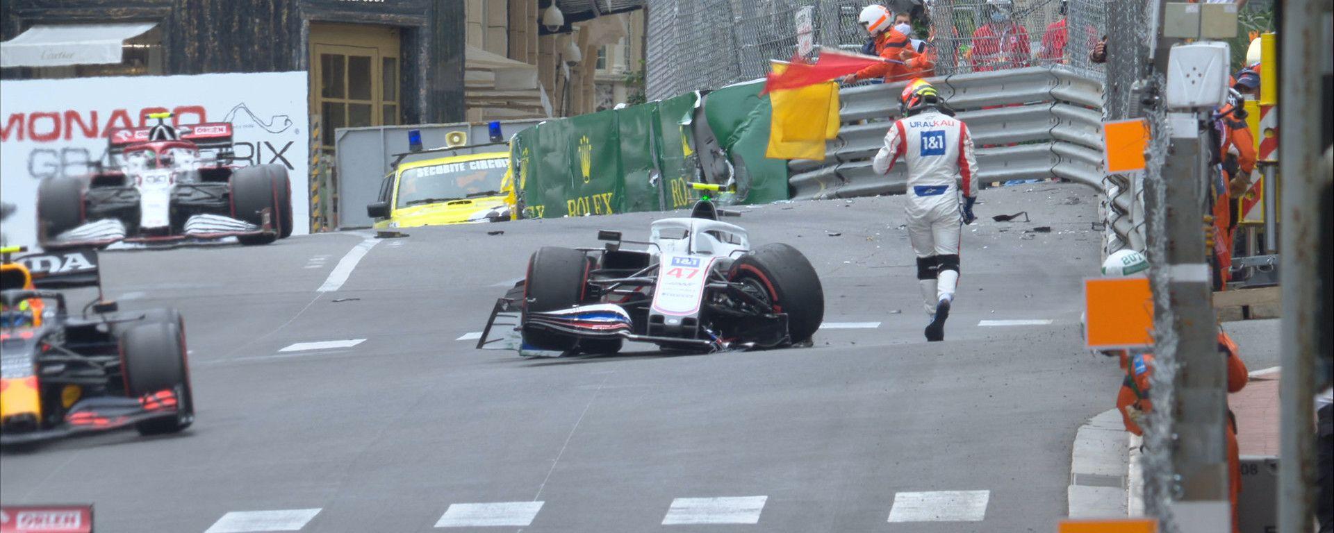 F1, GP Monaco 2021: Mick Schumacher poco dopo il suo incidente