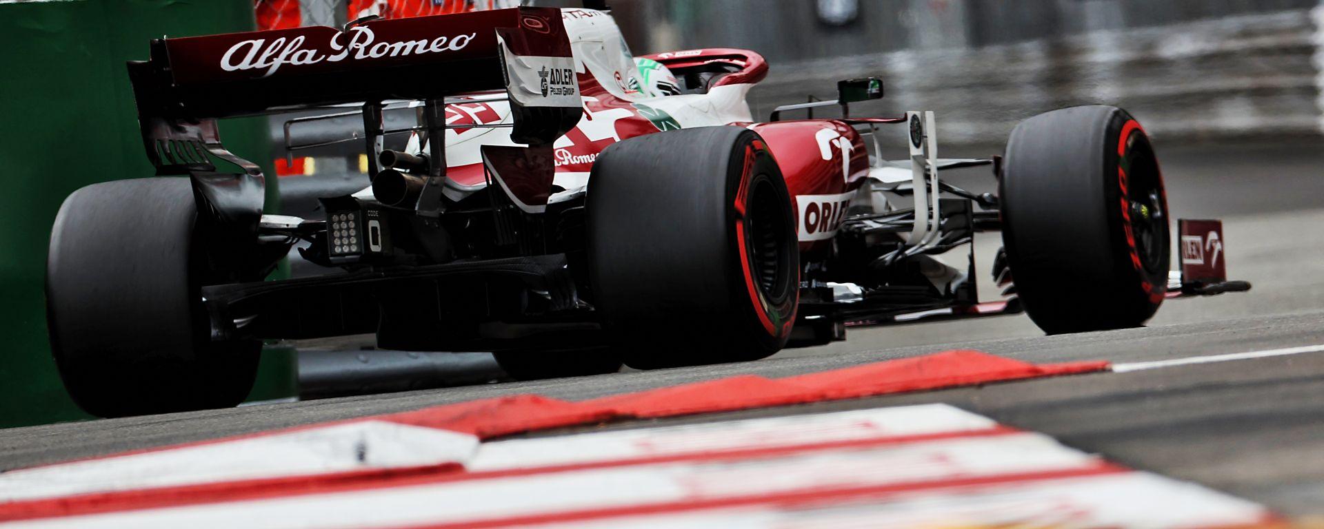 F1 GP Monaco 2021, Monte Carlo: Antonio Giovinazzi al volante della sua Alfa Romeo Racing