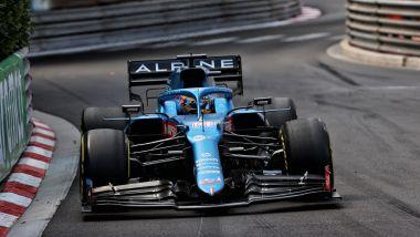 F1 GP Monaco 2021, Monte Carlo: Fernando Alonso (Alpine) in una fase di gara