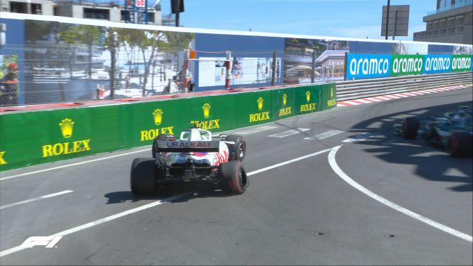 F1 GP Monaco 2021, Monte Carlo: Mick Schumacher (Haas F1 Team) dopo l'incidente