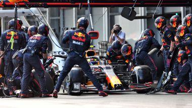 F1, GP Monaco 2021: pit stop di Sergio Perez (Red Bull)